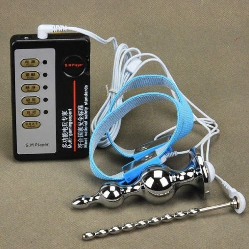 Электро-секс терапия колец и катетер уретры Подключи и анальную пробку
