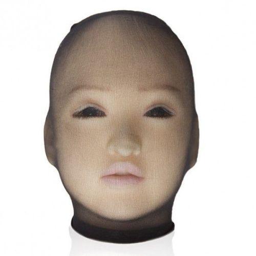 Шелковый чулок на голову для БДСМ черный