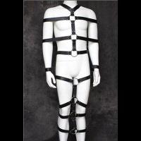 Фиксатор кожаный черный на все тело для БДСМ