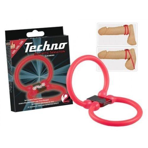 Эрекционное кольцо на пенис Orion Techno красный