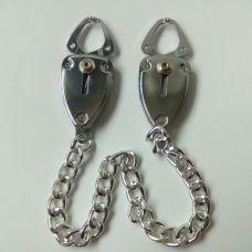 Зажимы для сосков металлические серебряные