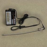 Уретральный стимулятор и кольцом на пенис с электростимуляцией для БДСМ