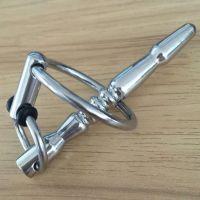 Уретральный катетер для пениса с кольцом серебряный