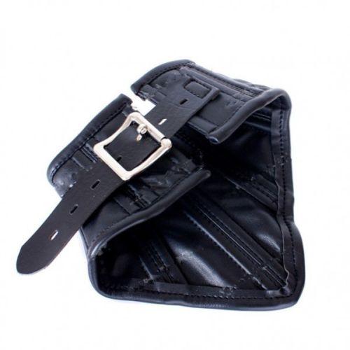 Черный кожаный ошейник для БДСМ