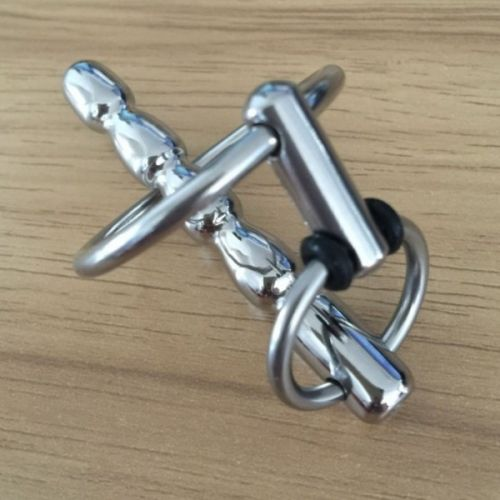 Уретральный катетер для мужского пениса из медицинской стали с кольцом