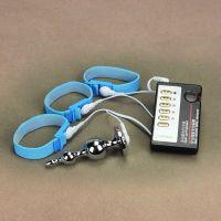 Анальная пробка +3 кольца для пениса с электросимуляцией Electro-sex