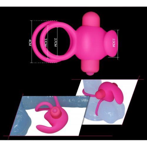 Эрекционное вибро-кольцо силиконовое Lovetoy розовое