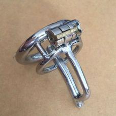 Катетер для пениса с колечком серебряный