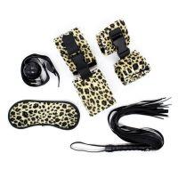 Леопардовый БДСМ-набор из 5 предметов