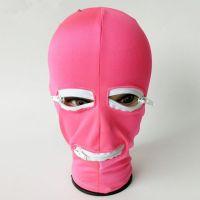 Маска латексная с отверстием для рта и глаз розовая