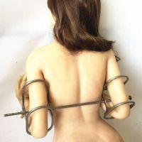 Фиксированные наручники унисекс из нержавеющей стали до локтя