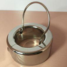 Бондаж на пенис с металлическим кольцом для БДСМ фиксации