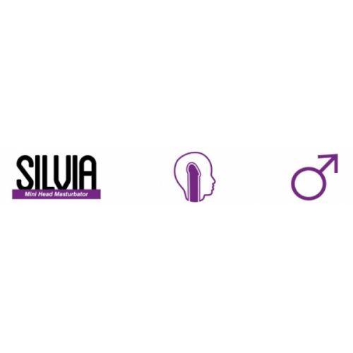 Мастурбатор в форме головы Silvia