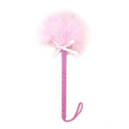 Перьевая щекоталка для БДСМ-игры розовая
