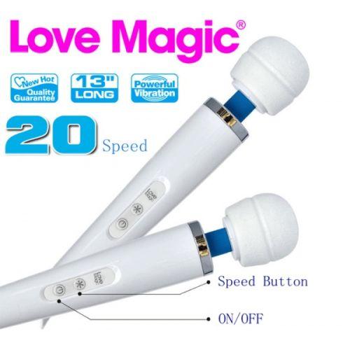 Вибромассажер аккумуляторный для клитора Love Magic белый