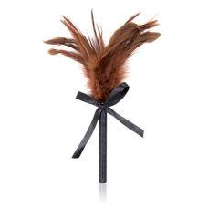 Щекоталка для БДСМ коричневая