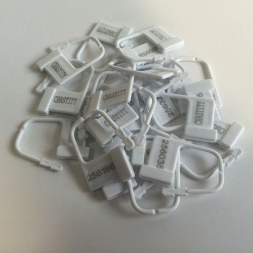 Пластиковые пронумерованные замки для БДСМ 10 шт