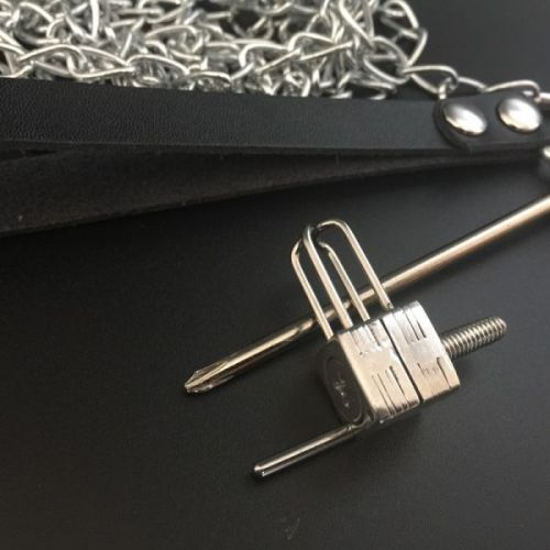 Stainless Steel Nose Clip With Metal Chain