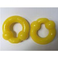 Силиконовые желтые насадки на пенис OXBALLS