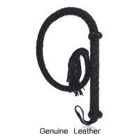 Кнут плетенный из натуральной кожи черный