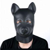 Капюшон в виде собаки из натурального латекса для БДСМ
