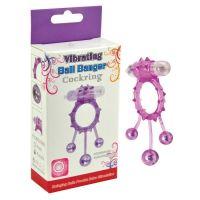 Эрекционное вибро-кольцо с качающимися шариками розовый