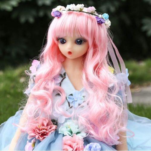 Реалистичная секс-кукла из силикона с розовыми волосами 105 см NO.A01