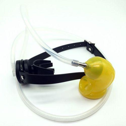 Пояс верности с уритнальной системой в кляп для рта OXBALLS