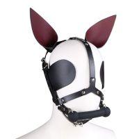 Маска фетиш кролика кожаная PlayBoy