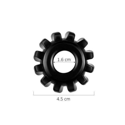 Черное эрекционное кольцо Power Plus