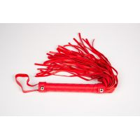 Плеть-флоггер для БДСМ цвет красный JSY