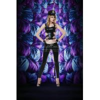 Эротический виниловый костюм для ролевых игр полицейской S/M JSY