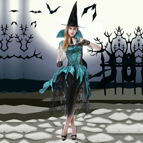 Эротический костюм Изумрудная Сногсшибательная Волшебница для ролевых игр S/M JSY