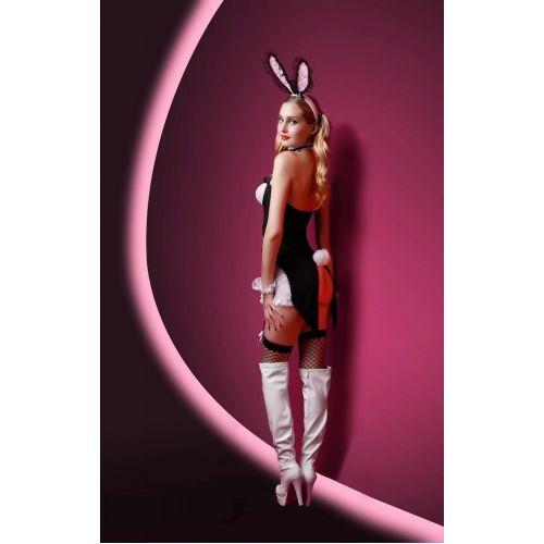 Черно-белый комплект для Ролевых Игр Волшебный сексуальный кролик S/M JSY