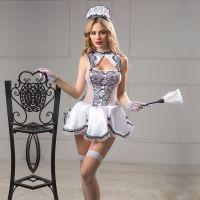 Эротический костюм-комплект фетиш Госпожа Горничная S/M