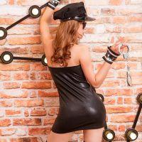 Эротический женский костюм для ролевых игр Неумолимой полицейской JSY S/M