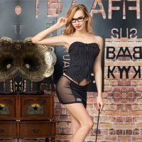 Эротический женский костюм для ролевых игр Стеснительной учительницы JSY S/M