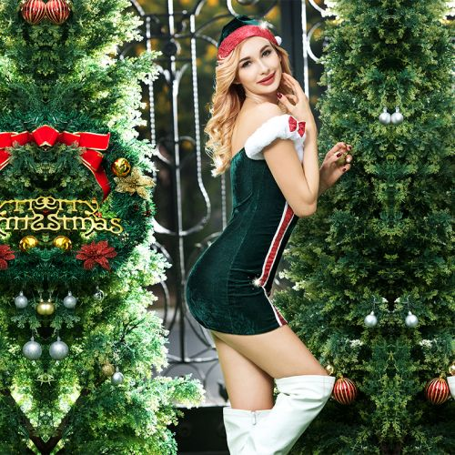 Рождественский костюм Помощницы Санты S/M