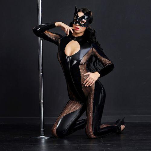 Эротический костюм для ролевых игр Изворотливой Роковой женщины кошки S/M JSY