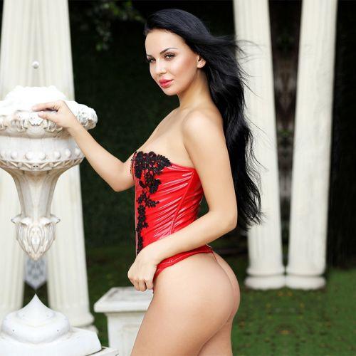 Красный корсет для секса Талия Богини Ада на молнии S/M JSY