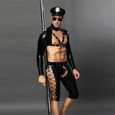 Сексуальный костюм полицейского для мужчины Candy Boy Rico XS/S
