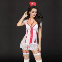 Обворожительное белое белье JSY медсестры размер S/M