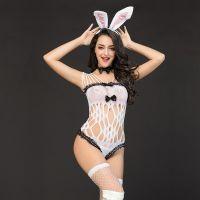 Костюм для Ролевых Игр Сексуальный кролик с милым хвостиком S/M