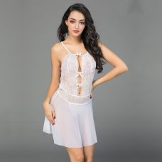 Белая сексуальная сорочка Mia S/M JSY-6939