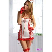 Сексуальный костюм Знойной медсестры для секса S/M JSY