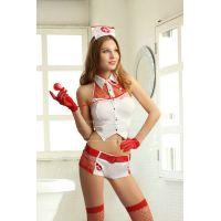 Эротический костюм для ролевых игр медсестры с шортиками S/M JSY