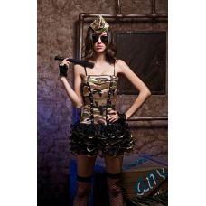 Камуфляжный эротический костюм Завоюй меня Сексуальный сержант S/M JSY