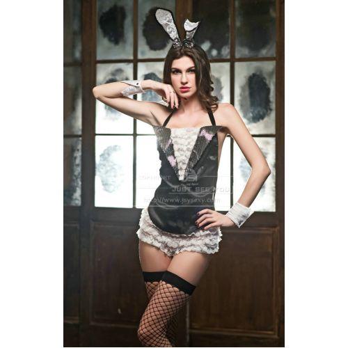Сексуальной костюм лучезарный сладенький зайчик S/M JSY