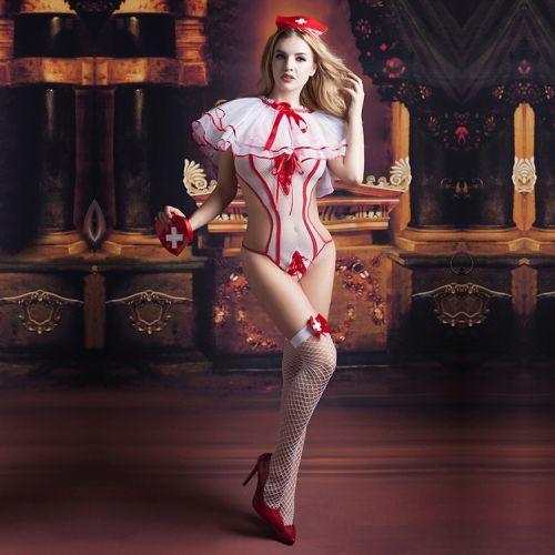 Сексуальный костюм Ночной сиделки S/M JSY