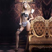 Сексуальный женский костюм элитной горничной  S/M JSY